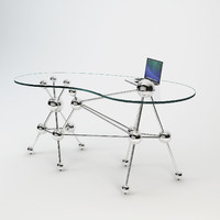 3d model eichholtz desk galileo