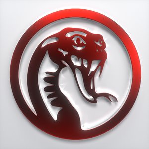 machined snake emblem 3d 3ds