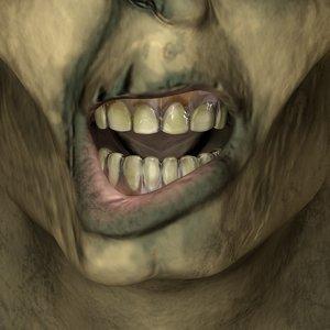 3d zombie flesh eating