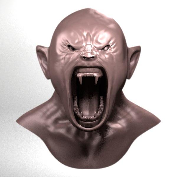 3d model monsters sculpture