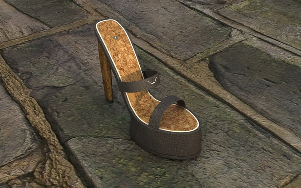 female shoes leather 3d x