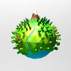 3d cartoon planet