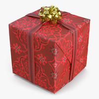 c4d giftbox 2 red