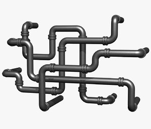 industrial pipes 3d 3ds