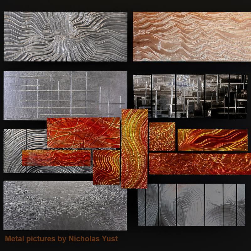 3d metal pictures model