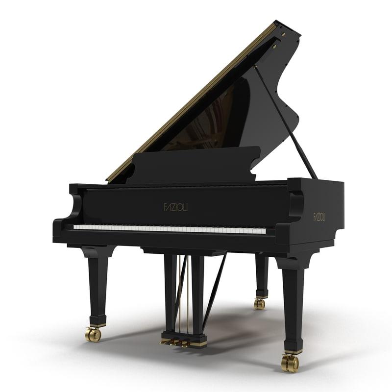 3d grand piano fazioli model