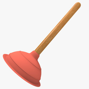 plunger cleaning 3d model