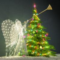 Christmas tree and angel