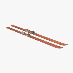ski snow 3d model