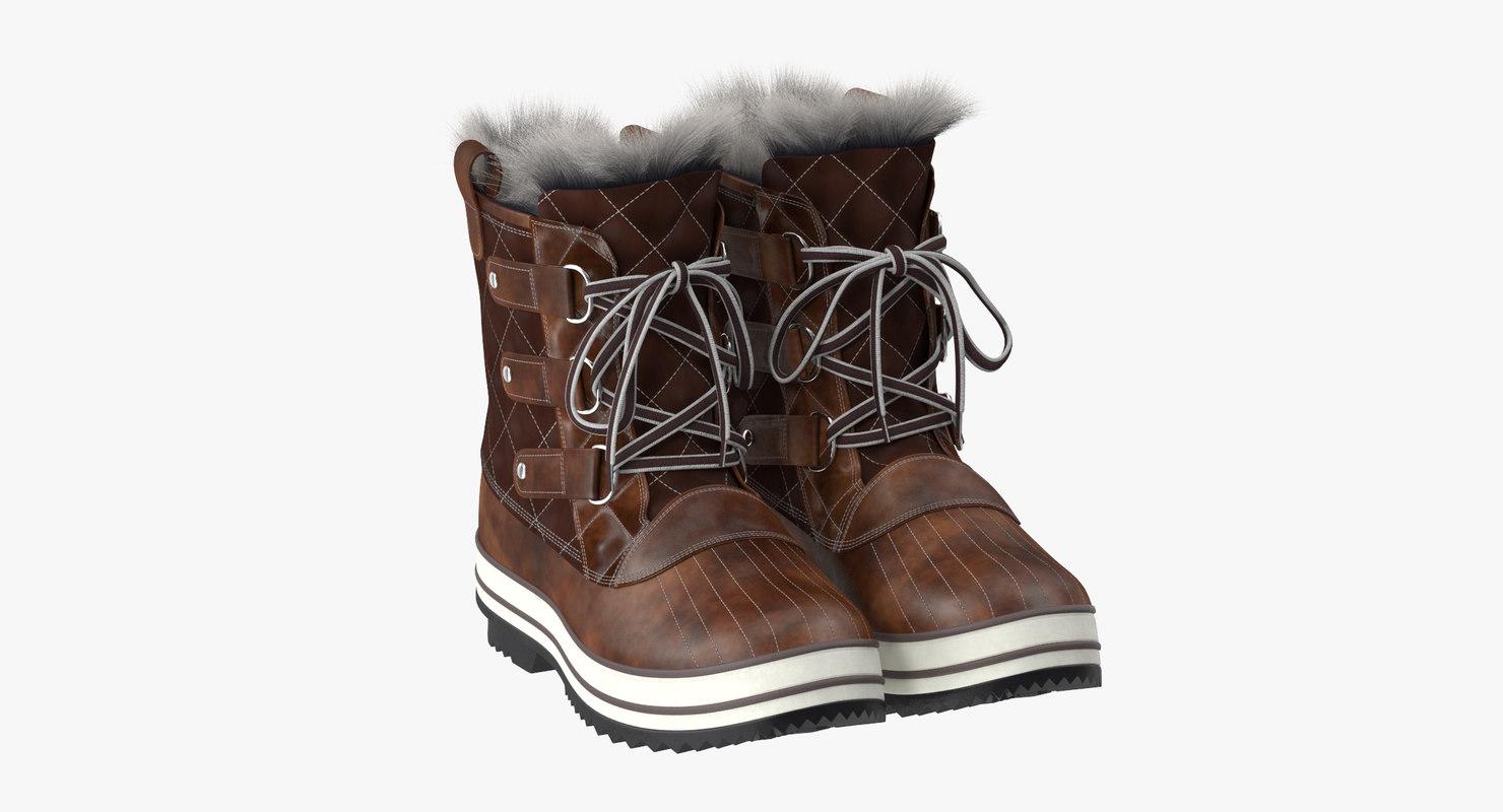 snow boots 02 3d max