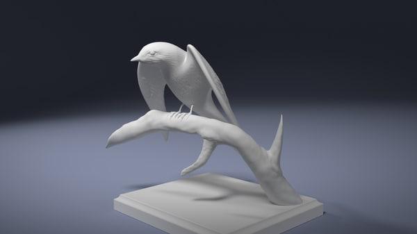 barn swallow printing 3d model
