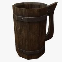 wooden tankard max