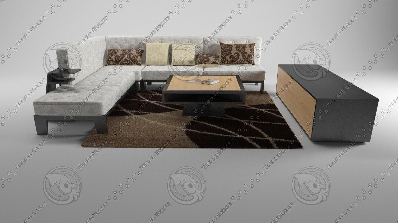 3d sofa table v-ray