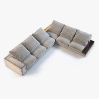 3d longhi helmut sofa model