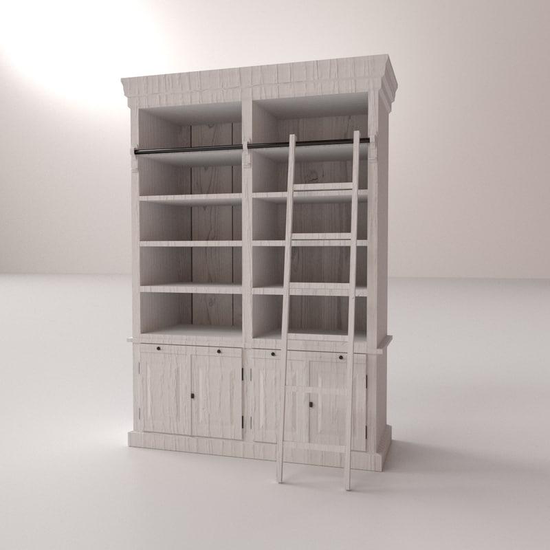 bookcase v2 3d model