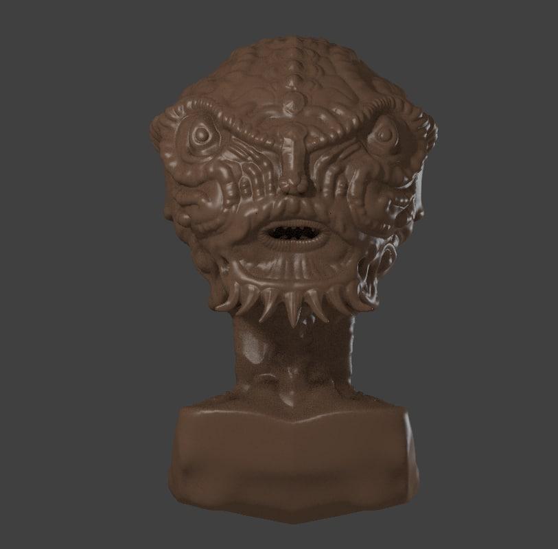3d model sculpture alien