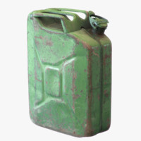 3d model old green rusty gasoline