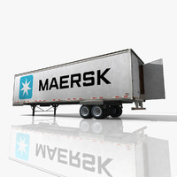 3d maersk truck trailer model