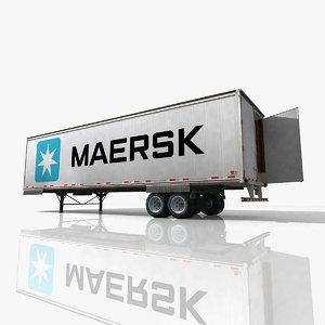 3d maersk truck trailer model
