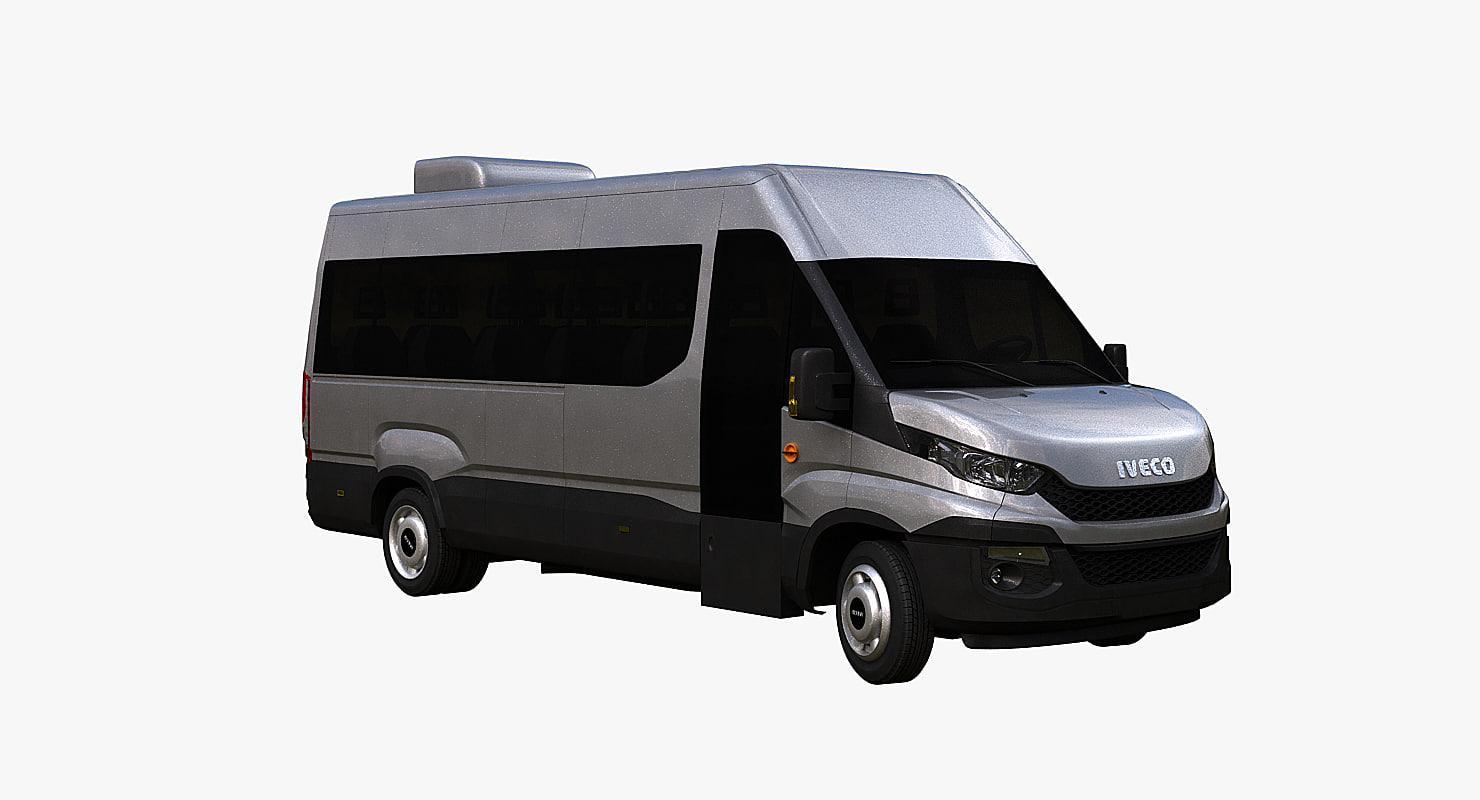 iveco daily minibus 3d model
