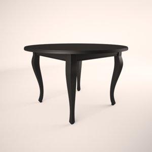 broyhill color cuisine oval table 3d max