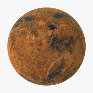 alien planet 01 3d model