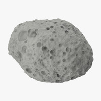 3d model asteroid 01