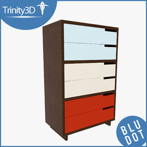 3d dresser set model