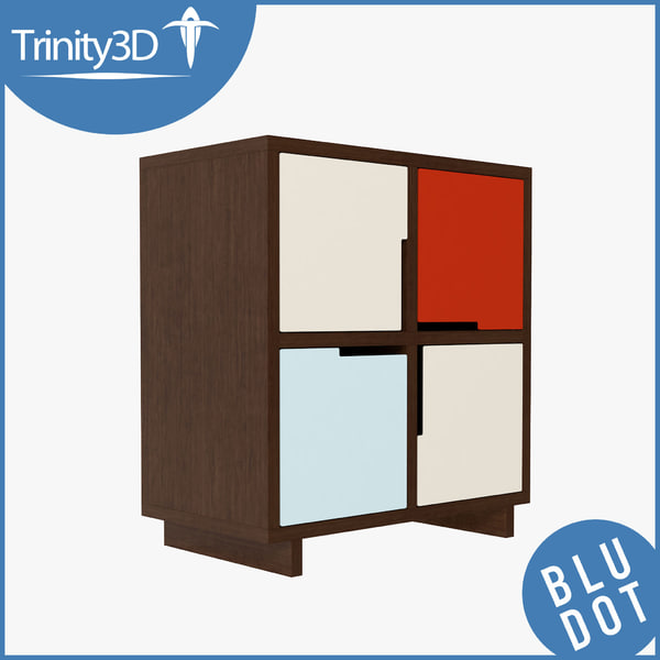 3d model cabinet contemporary