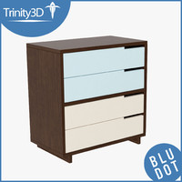 dresser contemporary 3d model