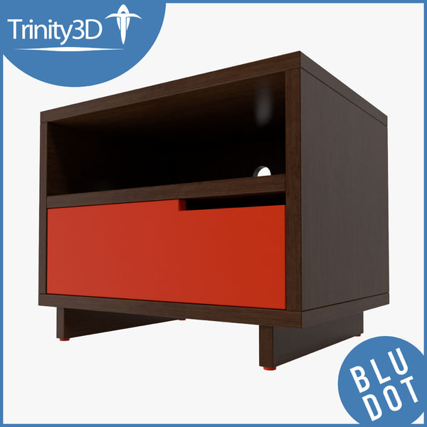 3d model nightstand contemporary