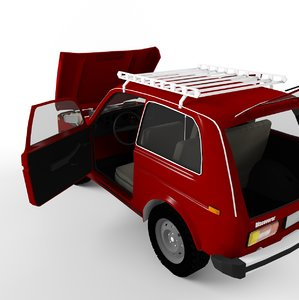 3d russian style car 4x4