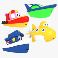 3d model toy boat