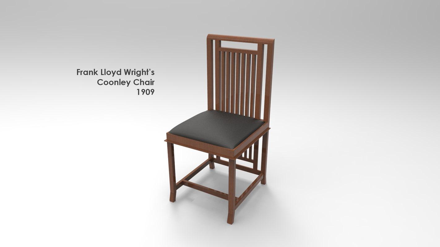 coonley chair 3d model