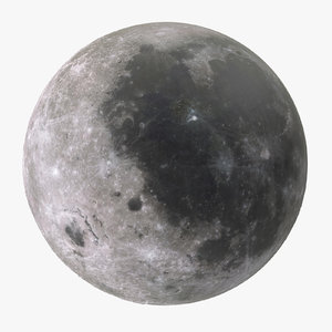 3d model moon resolutions