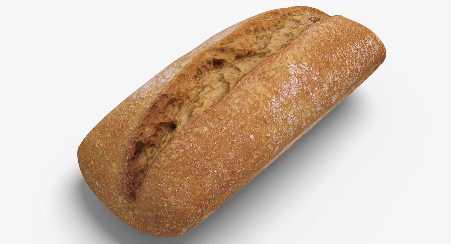 rye bread obj