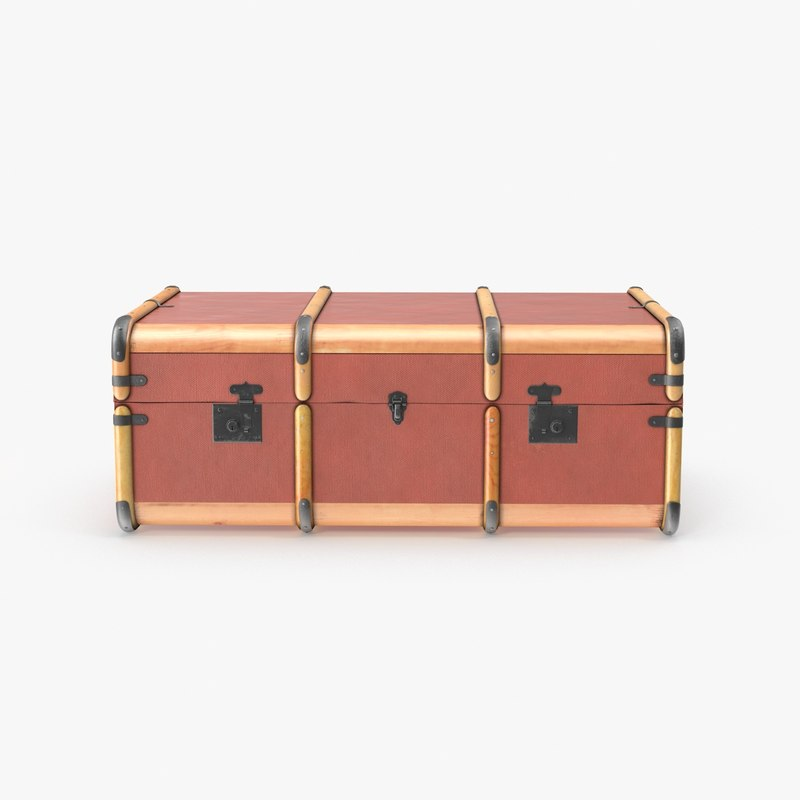 3d steamer trunk