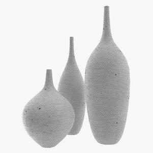 free vases set 3d model