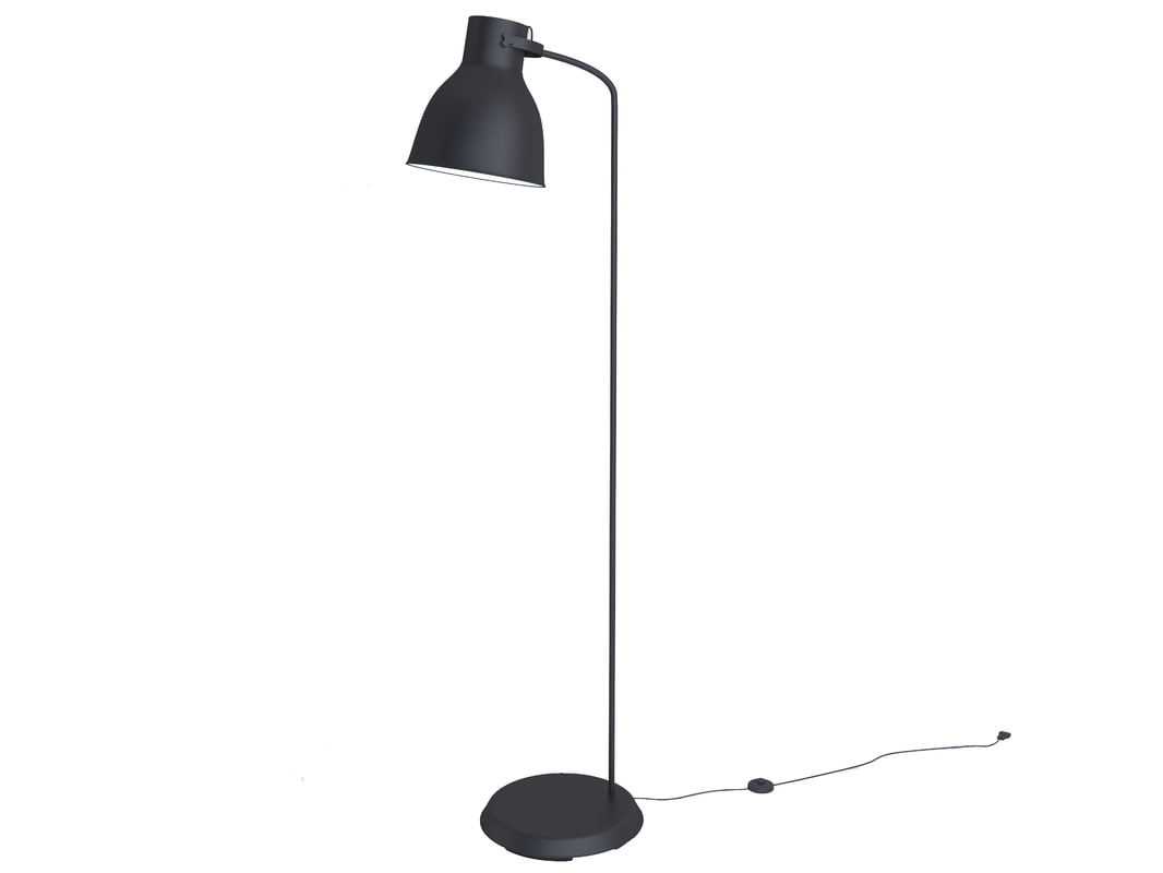 free ikea hektar floor lamp 3d model