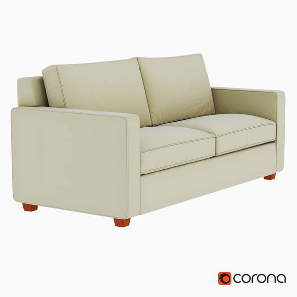 sofa west elm 3d model