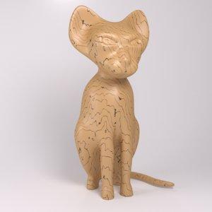 cat figure blender 3ds free