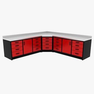 corner workbench unit 3d max