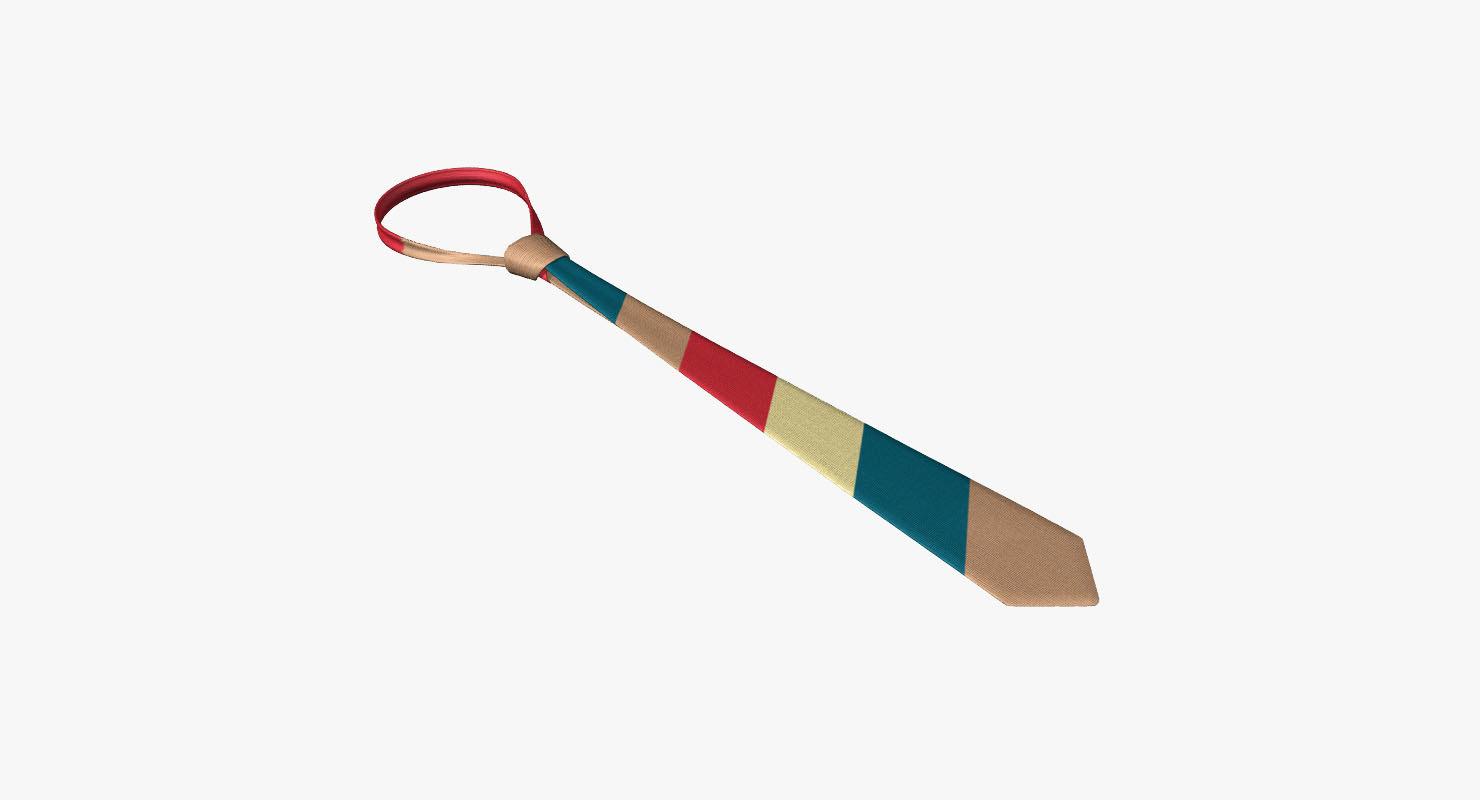 lwo striped necktie