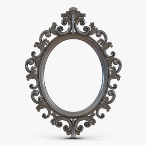 3d baroque picture frame 6 model