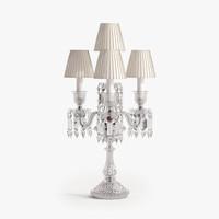 obj baccarat zenith 4-light candelabra