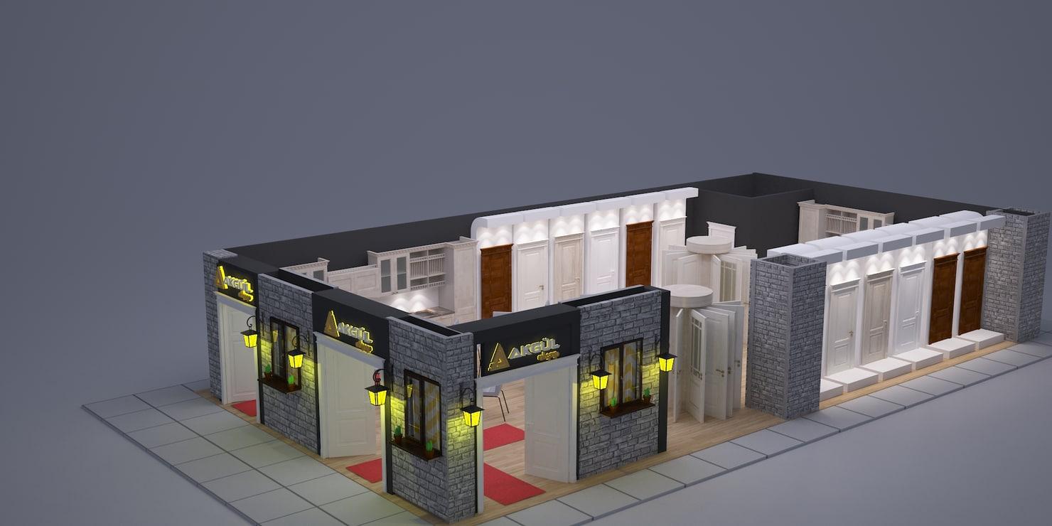 versions fair stand door 3d model