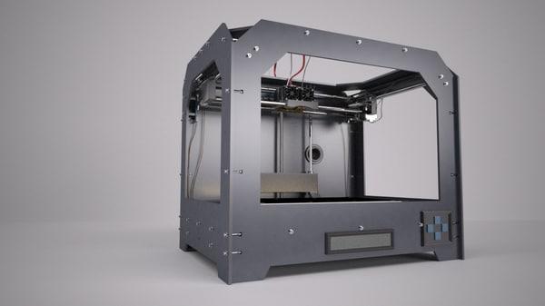 printer makerbot 2015 3d max