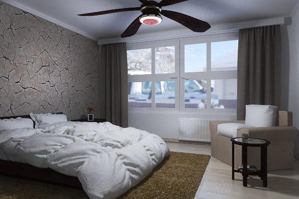 3d model contemporary farmhouse bedroom