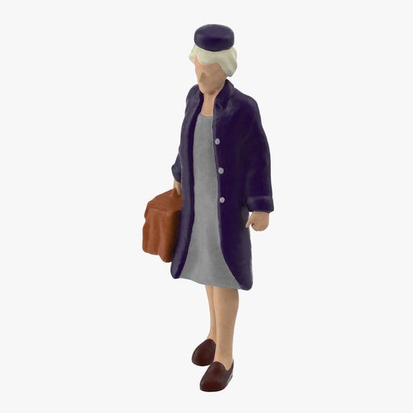 miniture traveller 03 3d model