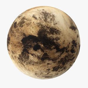 3d model pluto planet space